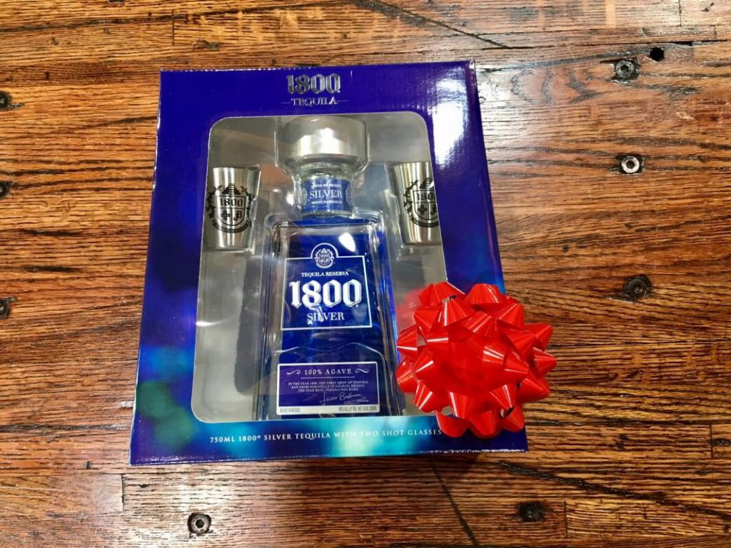 1800 silver tequila gift set