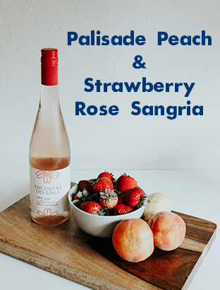 Palisade peach and strawberry rose sangria