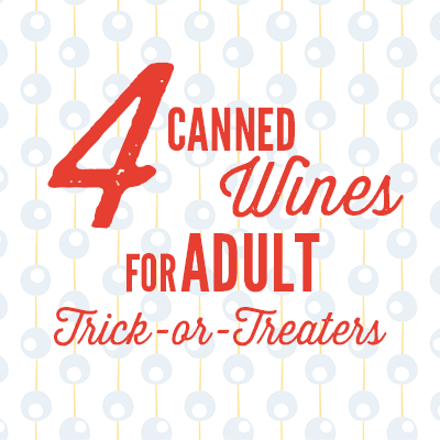 4 canned wines for adult trick-or-treaters